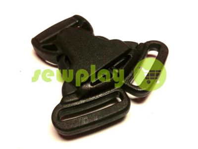 Plastic carabiner two-button three-pillar 25 mm the black sku 852