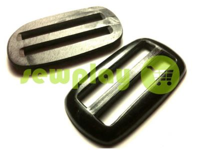 Limiter glossy plastic double-slit of 50 mm the black sku 859