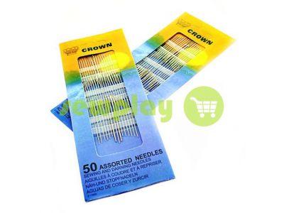 Set of sewing needles CROWN, 50 assorted needles sku 1617