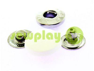Кнопка NEWstar ALFA с белой пластиковой шляпкой 15 mm, 17 mm, 20 mm Турция, 72 шт арт 1628