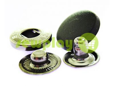 Button NEWstar ALFA with black plastic cap 15 mm, 17 mm, 20 mm Turkey, 72 pcs sku 1629