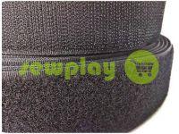 Velcro textile, color black