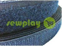 Липучка текстильная, цвет синий