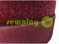 Липучка текстильная, цвет бордовый