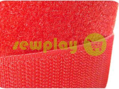 Липучка текстильная, цвет красный арт 2280