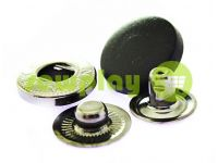 Button Alfa with black plastic cap 20 mm oxide China, 50 pcs