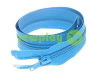 Молния витая тип 5 на один бегунок 40 см - 85 см, цвет голубой 059