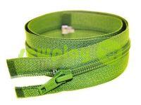 Молния витая тип 5 на один бегунок 40 см - 85 см, цвет зеленый 079