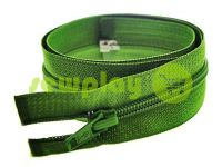 Блискавка спіральна тип 5 на один бігунок 40 см - 85 см, колір зелений 080