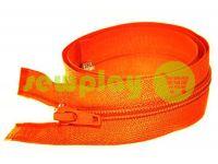 Молния витая тип 5 на один бегунок 40 см - 85 см, цвет оранжевый 034
