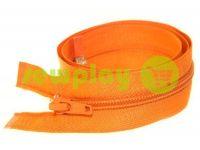 Молния витая тип 5 на один бегунок 40 см - 85 см, цвет оранжевый 319
