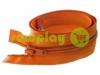Молния витая тип 5 на один бегунок 40 см - 85 см, цвет оранжевый 035