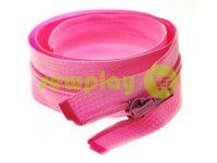 Молния витая тип 5 на один бегунок 40 см - 85 см, цвет розовый 009