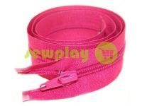Молния витая тип 5 на один бегунок 40 см - 85 см, цвет розовый 163