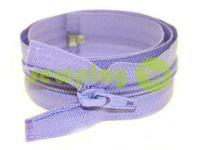 Молния витая тип 5 на один бегунок 40 см - 85 см, цвет фиолетовый 017