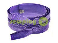 Молния витая тип 5 на один бегунок 40 см - 85 см, цвет фиолетовый 019