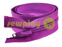 Молния витая тип 5 на один бегунок 40 см - 85 см, цвет фиолетовый 022