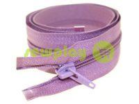 Молния витая тип 5 на один бегунок 40 см - 85 см, цвет фиолетовый 296