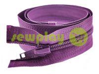 Молния витая тип 5 на один бегунок 40 см - 85 см, цвет фиолетовый 249