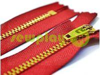 Молния джинсовая YKK тип 4.5, длина 12 см, 18 см, цвет красный