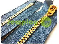 Молния джинсовая YKK тип 4.5, длина 12 см, 18 см, цвет темно-голубой