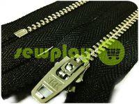 Молния джинсовая YKK тип 4.5, длина 12 см, 18 см, цвет черный, зуб никель