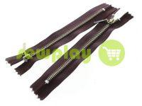 Молния металлическая карманная тип 4, длина 16 см, цвет коричневый, зуб никель