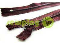 Молния брючная спиральная 18 см тип 4, цвет бордовый 012