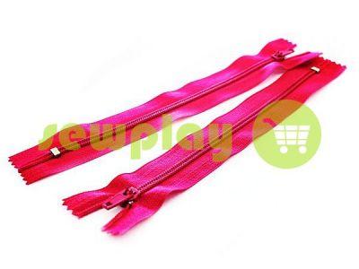 Блискавка брючна спіральна 18 см тип 4, колір рожевий 009 арт 1567