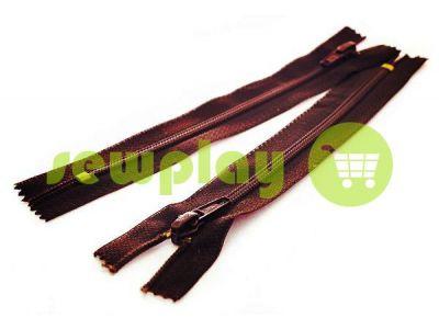 Молния Барышевская усиленная обувная спиральная 18 см тип 6, цвет коричневый 048
