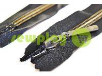 Блискавка кишенькова спіральна 16 см тип 5, колір чорний+золото