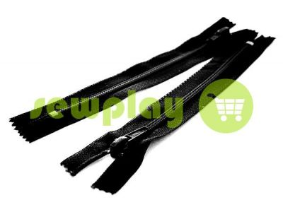 Молния Барышевская усиленная обувная спиральная 10 см - 60 см тип 6, цвет черный арт 1588