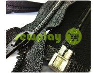 Молния барышевка спиральная усиленная тип 8 на один бегунок 80 см, 90 см, 100 см, цвет черный