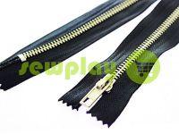 Блискавка джинсова тип 5, довжина 18 см, колір чорний, зуб нікель