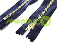 Молния джинсовая тип 5, длина 18 см, цвет синий, зуб никель арт 2712