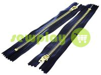 Zipper jeans type 5, length 18 cm, dark blue, nickel teeth