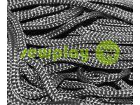 Шнур для одягу 5 мм пустотілий, колір чорний