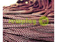 Шнур для одягу 5 мм пустотілий, колір коричневий 046