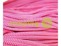 Шнур для одягу 5 мм пустотілий, колір рожевий 007