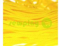 Шнур плетеный плоский 7 мм, цвет желтый
