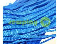 Шнур плетений плоский 7 мм, колір блакитний