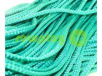 Шнур плетеный плоский 7 мм, цвет зеленый