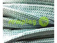 Шнур плетений плоский 10 мм, колір сірий