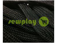 Шнур плетений плоский 10 мм, колір чорний