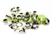 Люверс стальной с кольцом 3 мм - 17 мм, цвет никель, 50 шт