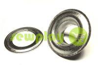 Люверс нержавеющий с кольцом 5 мм - 17 мм, цвет никель, 50 шт