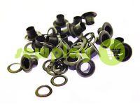 Люверс стальной с кольцом 3 мм - 17 мм, цвет оксид, 50 шт