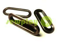 Люверс овал стальной с кольцом 30 мм, цвет антик, 1 шт