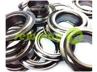 Люверс стальной с кольцом 13 мм, цвет темный никель, 50 шт