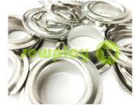 Люверс стальной с кольцом 13 мм, цвет никель, 50 шт